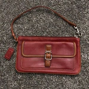 Red Coach Wristlet - Excellent Condition